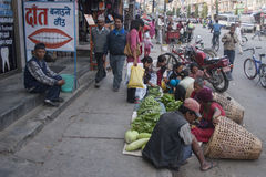 Ulica Pokhara Fotografia Stock