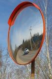 Ulica przeglądowy lustro na drodze Fotografia Royalty Free