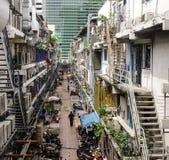 Ulica przy śródmieściem w Bangkok, Tajlandia Obrazy Stock