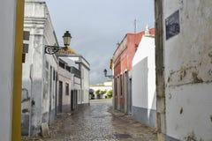 Ulica przy Faro, Portugalia Obrazy Royalty Free