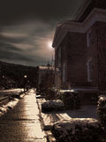 Ulica przy nocą Obrazy Royalty Free