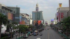 Ulica Ratchadamri droga, chmurny ranek bangkok Thailand zbiory