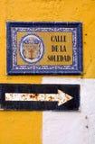 Ulica samotność, Cartagena, Kolumbia Zdjęcie Stock