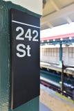 242 ulica Stacyjna - NYC metro Zdjęcia Stock