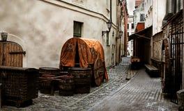 ulica stary retro styl Zdjęcie Stock