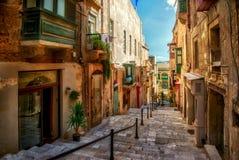 Ulica Valletta miasteczko Fotografia Royalty Free