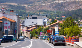 Ulica Vimianzo Coruna, Hiszpania Zdjęcie Royalty Free