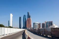 Ulica w Abu Dhabi śródmieściu Obraz Stock