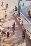 Ulica w Agra, widok od wierzchołka Fotografia Royalty Free