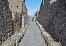 Ulica w antycznym Pompeii, Włochy Obrazy Stock