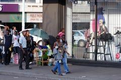 Ulica w Bulawayo Zimbabwe Obraz Stock