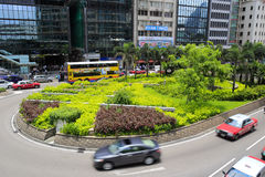 Ulica w centrali Hong kong Zdjęcia Royalty Free