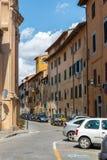 Ulica w centrum Pisa, Tuscany, Włochy zdjęcia royalty free