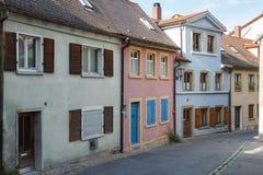 Ulica w części stary miasteczko zupełnie zdjęcie stock