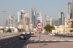 Ulica w Dubaj śródmieściu Obrazy Stock