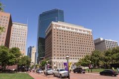 Ulica w Fort Worth śródmieściu Teksas, usa Zdjęcie Stock