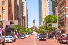 Ulica w Fort Worth śródmieściu Teksas, usa Zdjęcia Royalty Free
