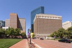 Ulica w Fort Worth śródmieściu Teksas, usa Fotografia Stock