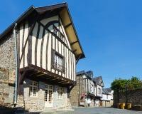 Ulica w Fougeres miasteczku Francja, Brittany (,) Obraz Stock