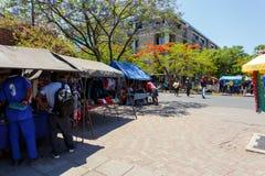 Ulica w Francis miasteczku, Botswana Obrazy Stock