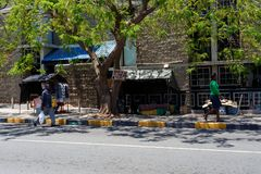 Ulica w Francis miasteczku, Botswana Zdjęcie Royalty Free