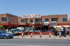 Ulica w Francis miasteczku, Botswana Zdjęcie Stock