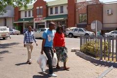 Ulica w Francis miasteczku, Botswana Obraz Royalty Free