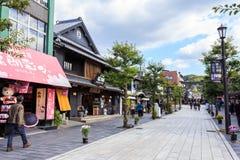 Ulica w fron Dazaifu Tenmangu Zdjęcie Stock