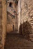 Ulica w Girona, Catalonia, Hiszpania Zdjęcia Royalty Free