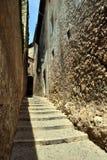 Ulica w Girona, Catalonia, Hiszpania Obrazy Stock