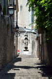 Ulica w Girona, Catalonia, Hiszpania Fotografia Royalty Free