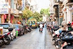 Ulica w Heraklion Crete zdjęcia royalty free