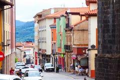 Ulica w historycznej części Salas Hiszpanii asturii Zdjęcie Stock