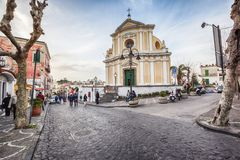Ulica w Ischia, Włochy zdjęcia stock