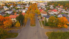 Ulica w jesieni Zdjęcie Royalty Free
