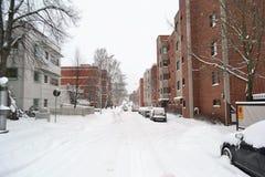 Ulica w Kotce przy zimą Zdjęcie Royalty Free