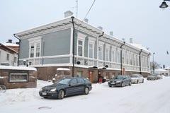 Ulica w Kotce przy zimą Zdjęcia Stock