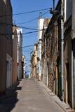 Ulica w l'Escala, Costa Brava, Hiszpania Obraz Royalty Free