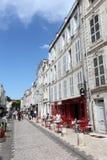 Ulica w La Rochelle, Francja Obraz Stock