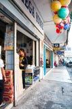 Ulica w Lido, Kot Kinabalu, Sabah, Malezja Zdjęcie Royalty Free