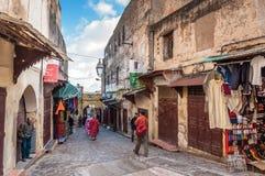 Ulica w Medina fez Obrazy Royalty Free