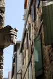 Ulica w miasteczko rozłamu, Chorwacja Obraz Royalty Free