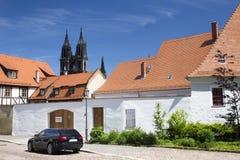 Ulica w miasteczku Meissen Zdjęcia Stock