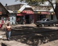 Ulica w mieście w Afryka Obraz Stock