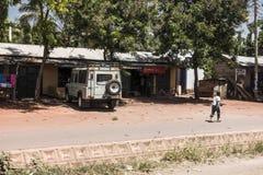 Ulica w mieście w Afryka Obrazy Stock