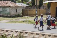 Ulica w mieście w Afryka Zdjęcia Stock