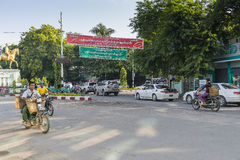 Ulica w Myanmar Fotografia Royalty Free