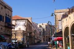 Ulica w Południowym Tel Aviv, Jaffa Zdjęcia Royalty Free