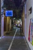Ulica w Rethymno Zdjęcia Stock