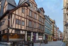 Ulica w Rouen, Francja Zdjęcia Stock